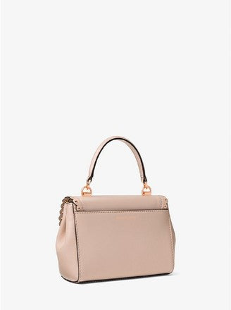 a612bc46df5e ... Michael Kors Ava Extra-small Scalloped Soft Pink Leather Cross Body Bag  ...