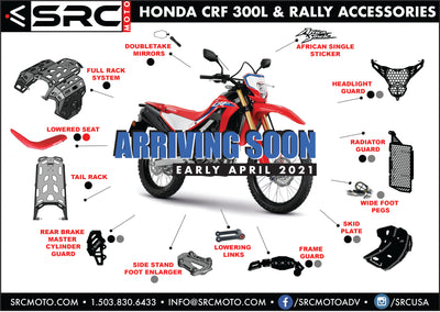 HONDA CRF 300L & RALLY ACCESSORIES IN THE WORKS NOW!