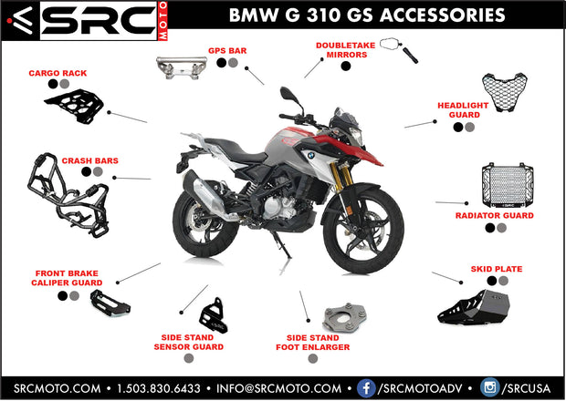 Protective Engine Guard / Skid Plate BMW 310GS/R - 2017-2019
