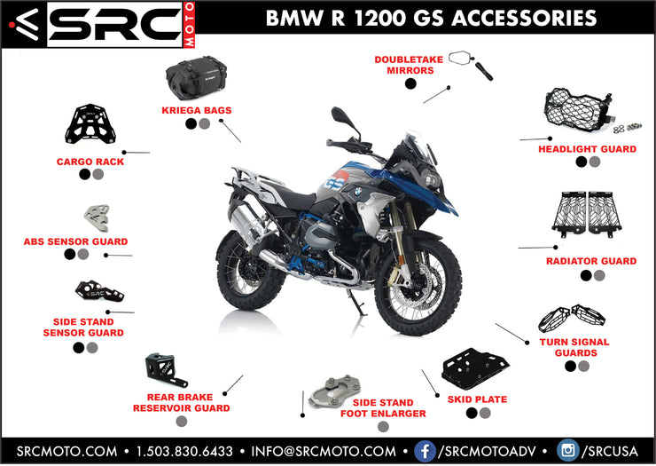 Rear Cargo Tail Rack for BMW R 1200 GS / 2013-2018