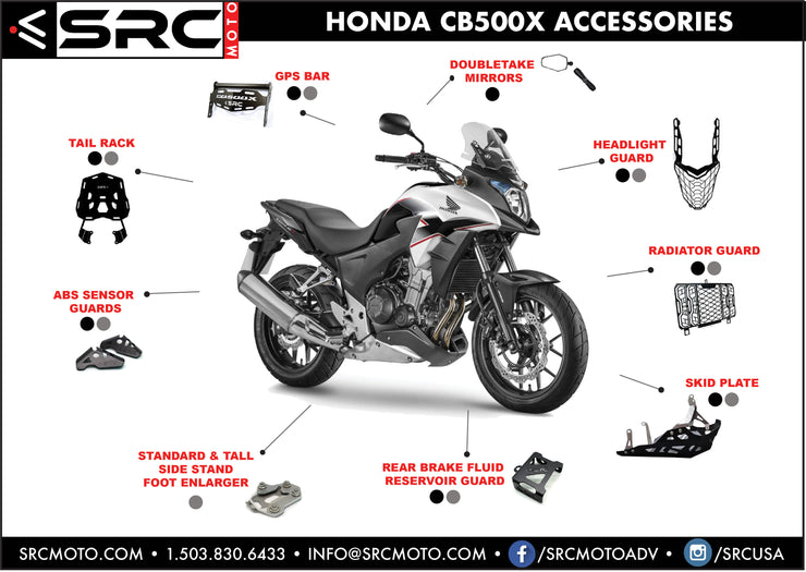 GPS  / Phone Accessory mounting Bar 2016-2019 HONDA CB500X