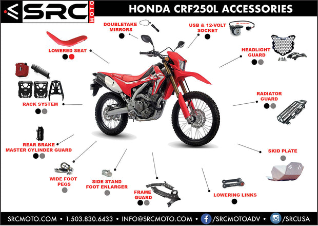 Side stand foot enlarger HONDA CRF 250L & Rally