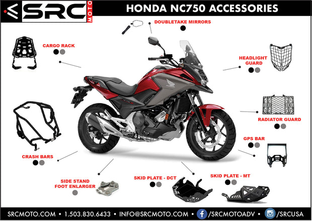 Crash Bar Set HONDA NC750 - DCT