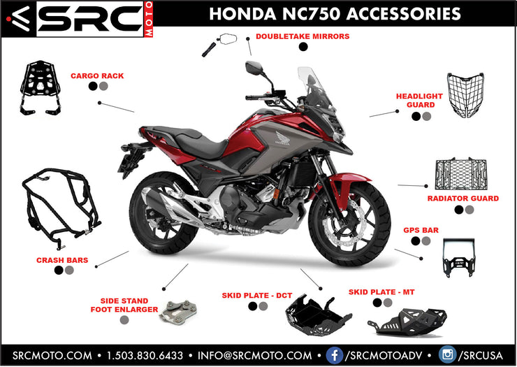 Rear Cargo Tail Rack 2014-2019 HONDA NC750