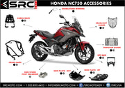 GPS  / Phone Accessory mounting Bar 2016 - 2019 HONDA NC750