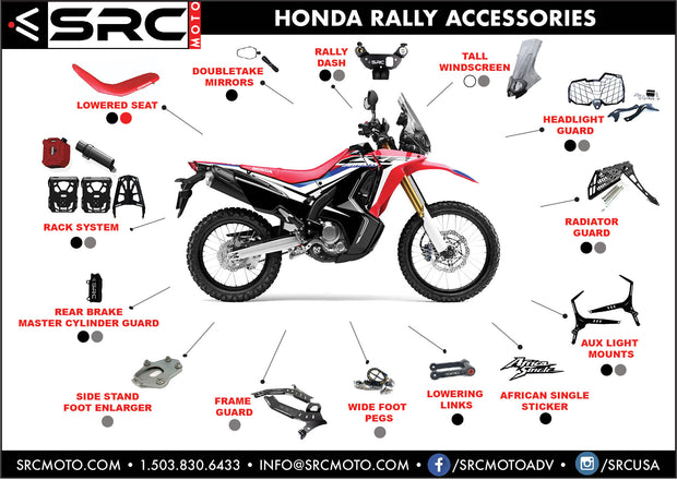 SRC Full Dash Panel 2017-2020 CRF 250L Rally