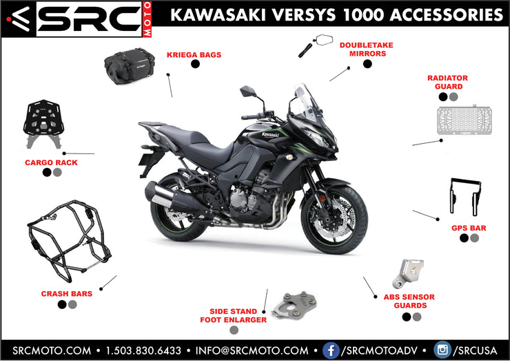 Side stand/Kickstand foot enlarger 2015-2018 KAWASAKI VERSYS 1000