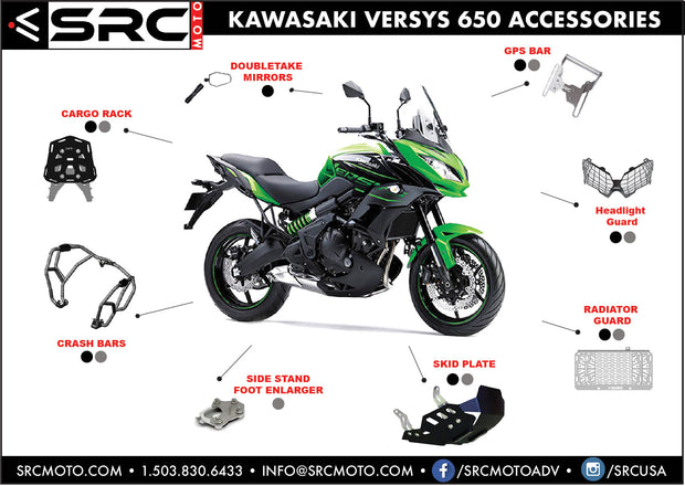 SIDE STAND KICKSTAND FOOT ENLARGER 2011-2019 KAWASAKI VERSYS 650
