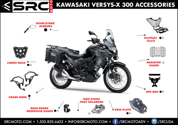RADIATOR GUARDS KAWASAKI VERSYS-X 300
