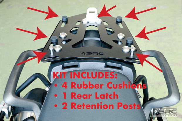 Tail/Cargo Rack Quick Attachment Kit for Kappa, GIVI, MONOKEY Hard Cases