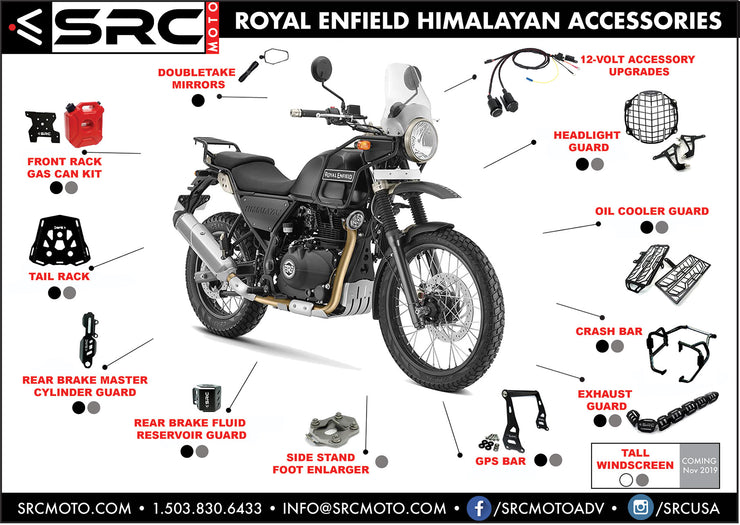 Exhaust head pipe guard 2016-2019 ROYAL ENFIELD HIMALAYAN