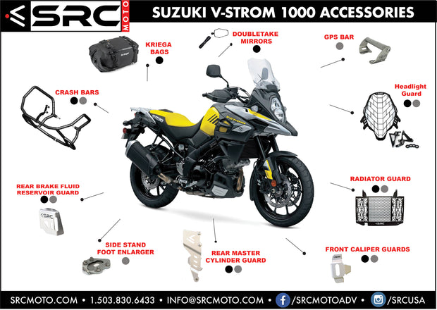 GPS Phone Accessory Mount Bar SUZUKI V-STROM 650 & 1000