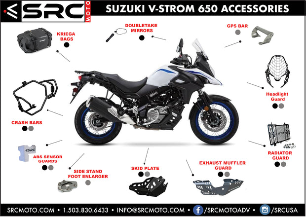 Crash Bar Set SUZUKI V-STROM 650 2017-2019