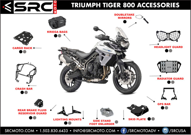 SRC Rear Cargo Rack 2015-2019 Triumph Tiger 800