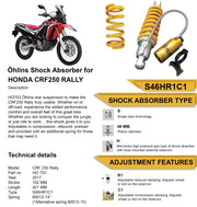 Ohlins Rear Shock for HONDA CRF 250L RALLY 2017-2020