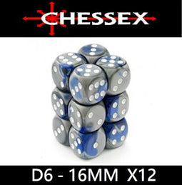 CHESSEX - D6 - 16MM  X12