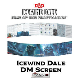 DUNGEONS & DRAGONS - 5th Edition RPG:  ICEWIND DALE - RIME OF THE FROSTMAIDEN  - DM SCREEN