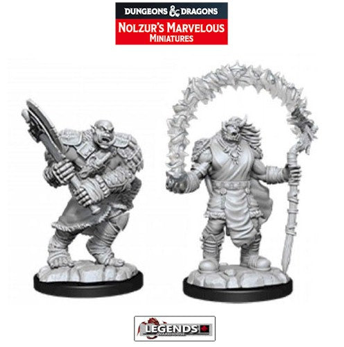 DUNGEONS & DRAGONS - UNPAINTED MINIATURES:  Orc Adventurers (2)   #WZK90062
