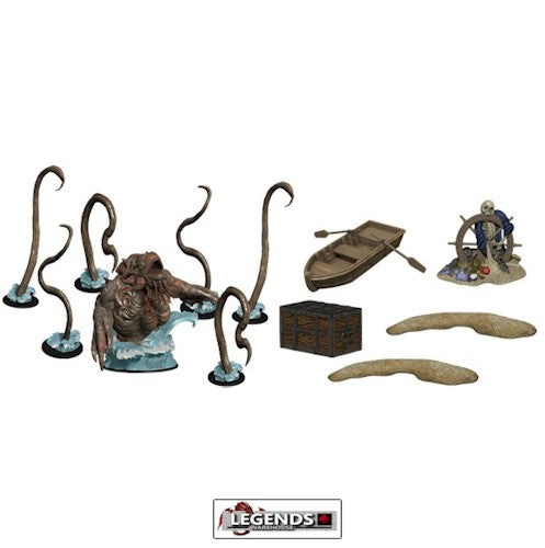 DUNGEONS & DRAGONS ICONS - PREMIUM FIGURE: MONSTER MENAGERIE 3 KRAKEN AND ISLANDS