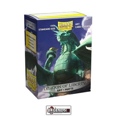 DRAGON SHIELD DECK SLEEVES  • Matte - DRAGON OF LIBERTY (100)