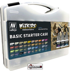 VALLEJO / WIZKIDS - PREMIUM PAINTS - BASIC STARTER CASE