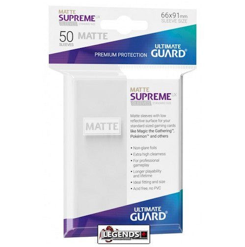 ULTIMATE GUARD - DECK SLEEVES - Supreme UX Std Matte White