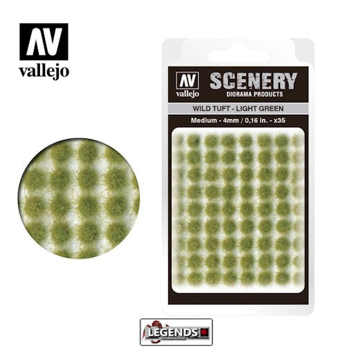 VALLEJO - SCENERY - Wild Tuft – Light Green  -  VC407