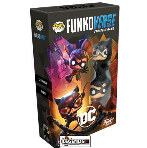 POP! FUNKOVERSE STRATEGY GAME - DC EXPANDALONE (CATWOMAN & ROBIN)   #FNK42646