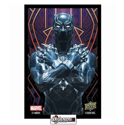 MARVEL SLEEVES - BLACK PANTHER (65CT)