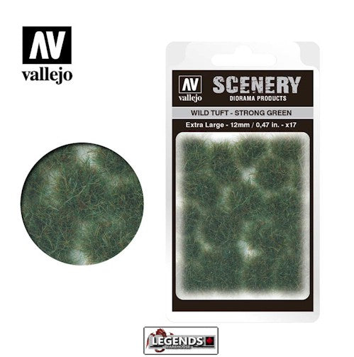 VALLEJO - SCENERY - WILD TUFT - STRONG GREEN  (XL)  -  VC427