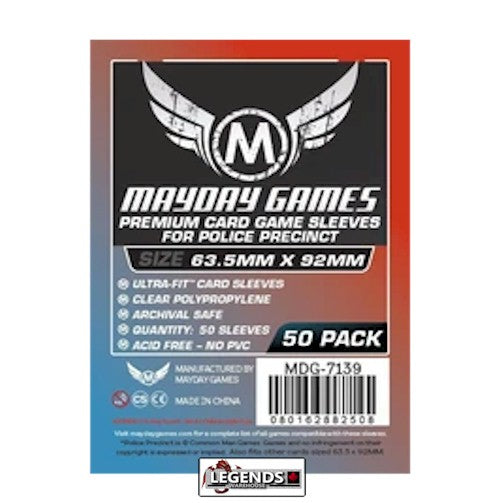 MAYDAY CARD SLEEVES - Card Game Card Sleeves MDG-7139 (63.5x92mm)