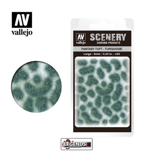 VALLEJO - SCENERY -  FANTASY TUFT - TURQUOISE - MEDIUM    -  VC432