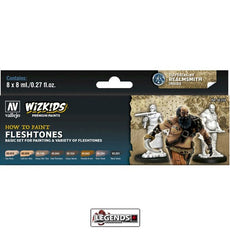 VALLEJO / WIZKIDS - PREMIUM PAINTS - HOW TO PAINT - FLESHTONES