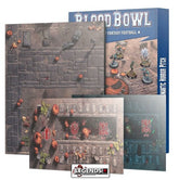 BLOOD BOWL - Blood Bowl Team – Necromantic Horror Pitch – Double-sided Pitch and Dugouts