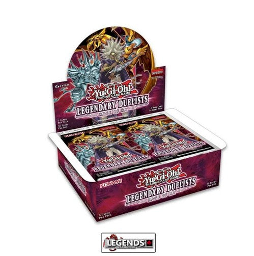 YU-GI-OH  - LEGENDARY DUELIST RAGE OF RA BOOSTER BOX  (36 PK)