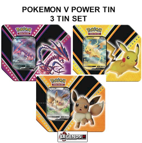 POKEMON - (V) POWERS TIN    3-PACK SET