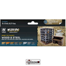 VALLEJO / WIZKIDS - PREMIUM PAINTS - HOW TO PAINT - WOOD AND STEEL