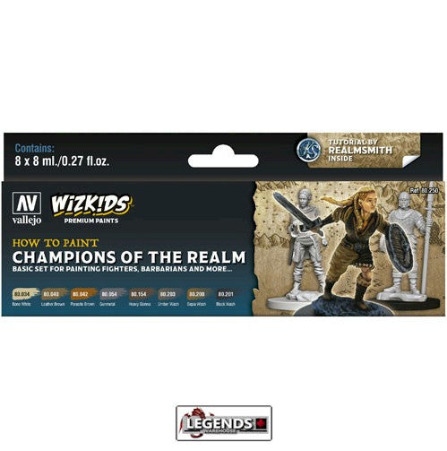 VALLEJO / WIZKIDS - PREMIUM PAINTS - HOW TO PAINT - CHAMPIONS OF THE REALM