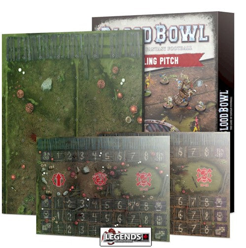BLOOD BOWL -  Double-sided Snotling Pitch and Dugout Set