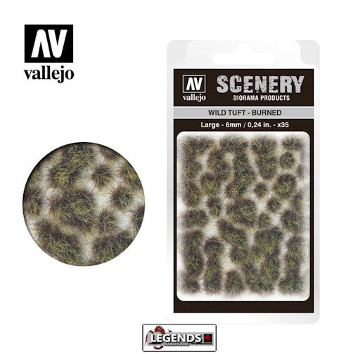 VALLEJO - SCENERY - Wild Tuft – Burned  -  VC414