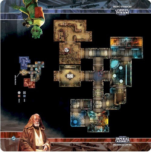 STAR WARS - IMPERIAL ASSAULT - MAPS - Anchorhead Cantina Skirmish