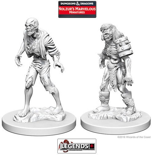 DUNGEONS & DRAGONS NOLZUR'S MARVELOUS UNPAINTED MINIATURES:  Zombies #WZK72567