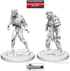 DUNGEONS & DRAGONS NOLZUR'S MARVELOUS UNPAINTED MINIATURES:  Zombies
