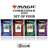 MAGIC COMMANDER - 2019 -  Deck Set (4 Decks)