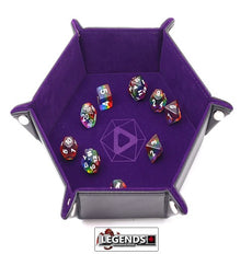 Die Hard Folding Hex Tray w/ Purple Velvet