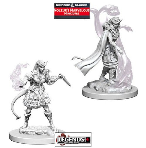 DUNGEONS & DRAGONS NOLZUR'S MARVELOUS UNPAINTED MINIATURES:  Tiefling Female Sorcerer #WZK73202