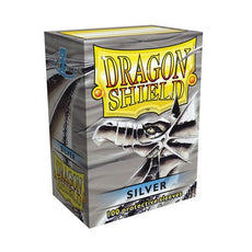 DRAGON SHIELD DECK SLEEVES - Dragon Shield • Classic Silver