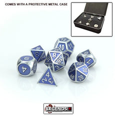 DIE HARD METAL DICE - Silver Tanzanite - Gemstone Collection