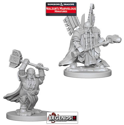 DUNGEONS & DRAGONS NOLZUR'S MARVELOUS UNPAINTED MINIATURES:  Dwarf Male Paladin #WZK72630