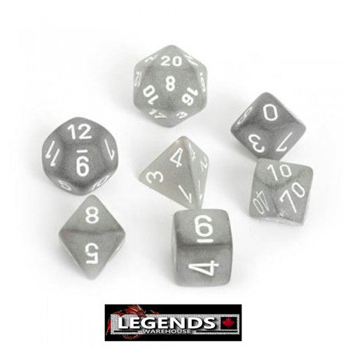 CHESSEX ROLEPLAYING DICE - Frosted Smoke 7-Dice Set  (CHX LE431)